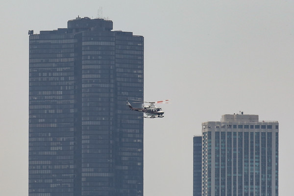 CFD Helicopter against city skyline